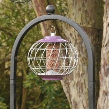 Round Helix Nut Bird Feeder - Aubergine