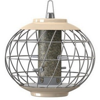 Round Helix Nyjer Seed Feeder - Cream