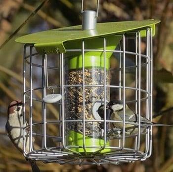 Roundhaus Bird Seed Feeder - Celadon Green