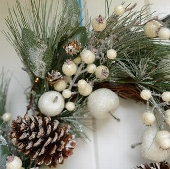 Spiky Blue Fir LED Wreath by Gisela Graham