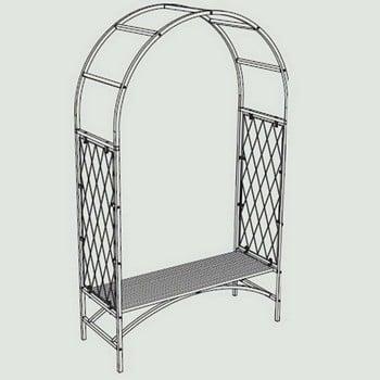 Standard Half Lattice Arch with Bench