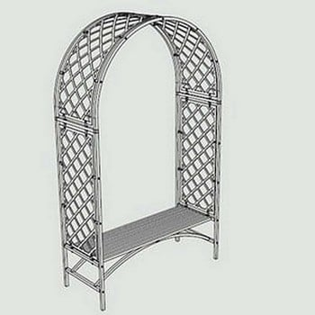 Superior Full Lattice Arch with Bench