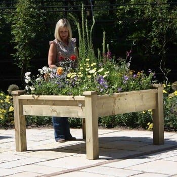 Superior Wooden Raised Bed Tables