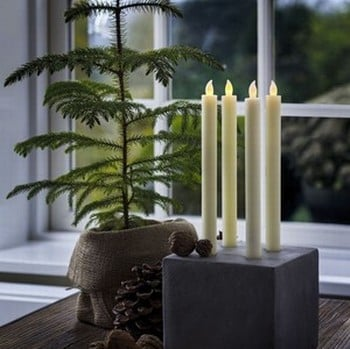 Tall LED Candles with Auto Timer (Set of 2)