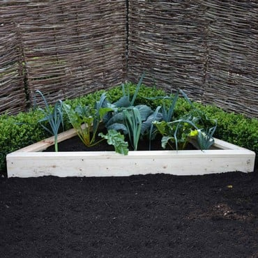 Allotment Corner Wooden Raised Beds