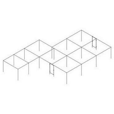 Aluminium Fruit Cage L Shaped - Bespoke Design
