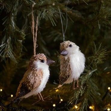 Bristle Bird Tree Decorations by Gisela Graham
