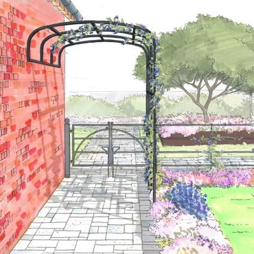 Ellipse Wall Pergola