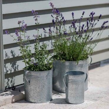 Galvanised Planters Set of 3