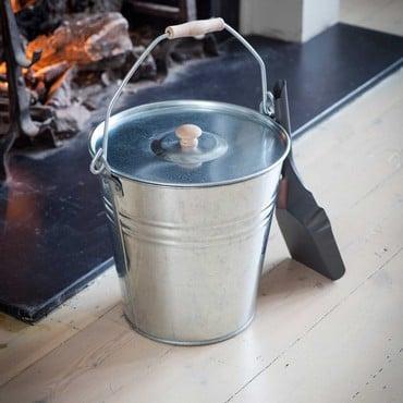 Galvanised Steel Bucket with Lid