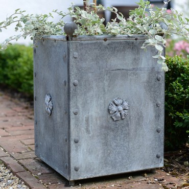 Galvanised Traditional Square Steel Planters