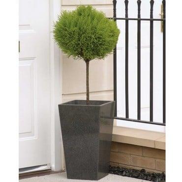 Granite Tall Tapered Planter (Set of 2)