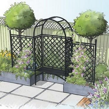 Half Lattice Roman Arbour and Fence-Bespoke Design