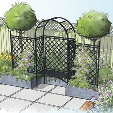 Half Lattice Roman Arbour and Fence-Bespoke Design