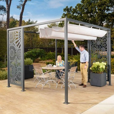 Harrod Modern Pergola with Awning