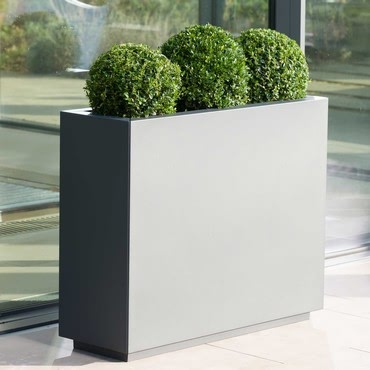 Harrod Rectangle Metal Planters - Anthracite Grey