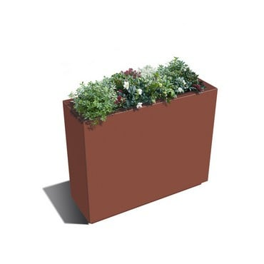 Harrod Rectangle Metal Planters - Corten Effect