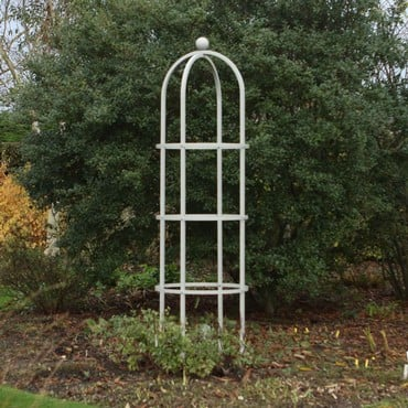 Harrod Steel Round Obelisks - Silk Grey