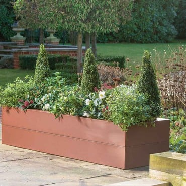 Harrod Superior Metal Raised Beds - Corten Effect
