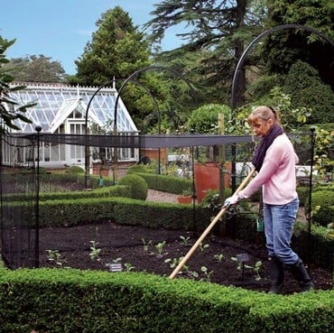 Harrod Vintage Fruit & Vegetable Cage 1.5m High - Matt Black