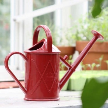 Haws 1 litre Plastic Indoor Watering Can Red