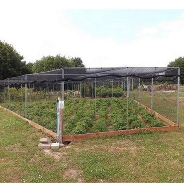 Large Angled Aluminium Fruit Cage - Bespoke Design