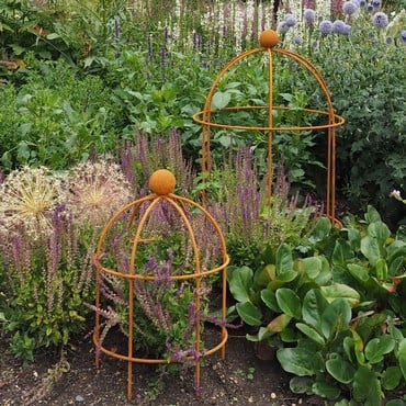 Lobster Pot Plant Support - Rust