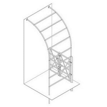 Roman Half Arch with X Brace Gate-Bespoke Design