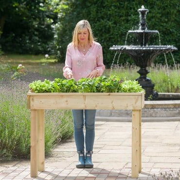 Standard Wooden Raised Bed Tables