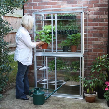 Superior Lean-To Double Mini Greenhouse