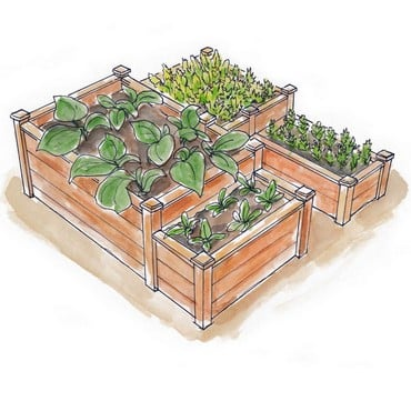 Superior Raised Beds Multi Tier - Bespoke Design
