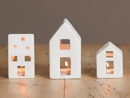 House Tea Light Holders