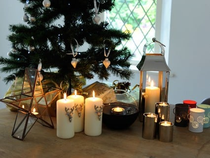 Indoor Christmas Decorations & Candles