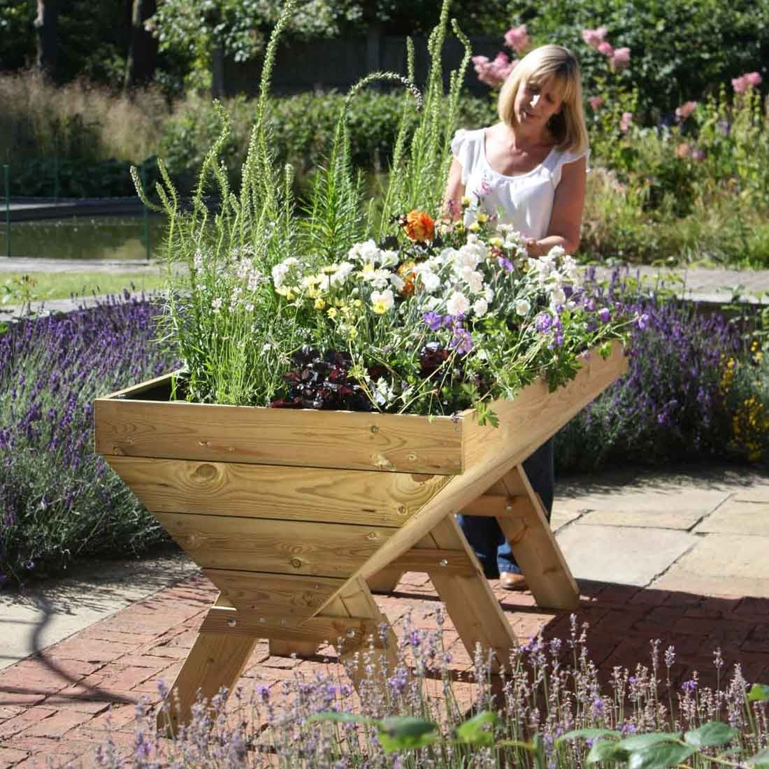 Wooden Manger Trough Planters