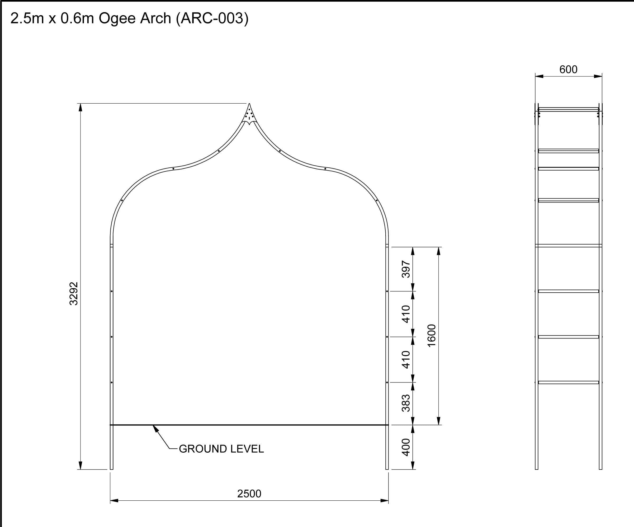ARC-003 Dimensions CAD