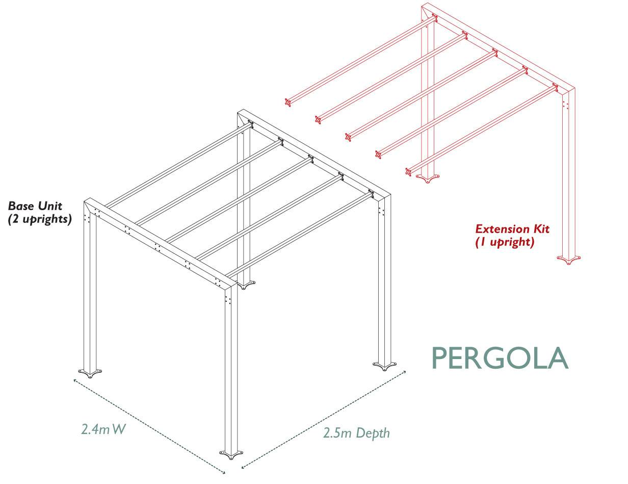 contemporary arch  u0026 pergola