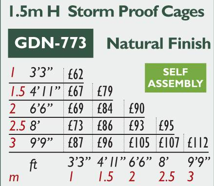GDN-773 Storm Proof Cage Price Grid 2016