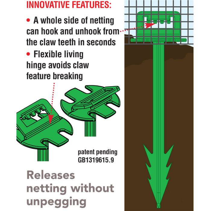 GDN-776 Net Claw Peg Infographic