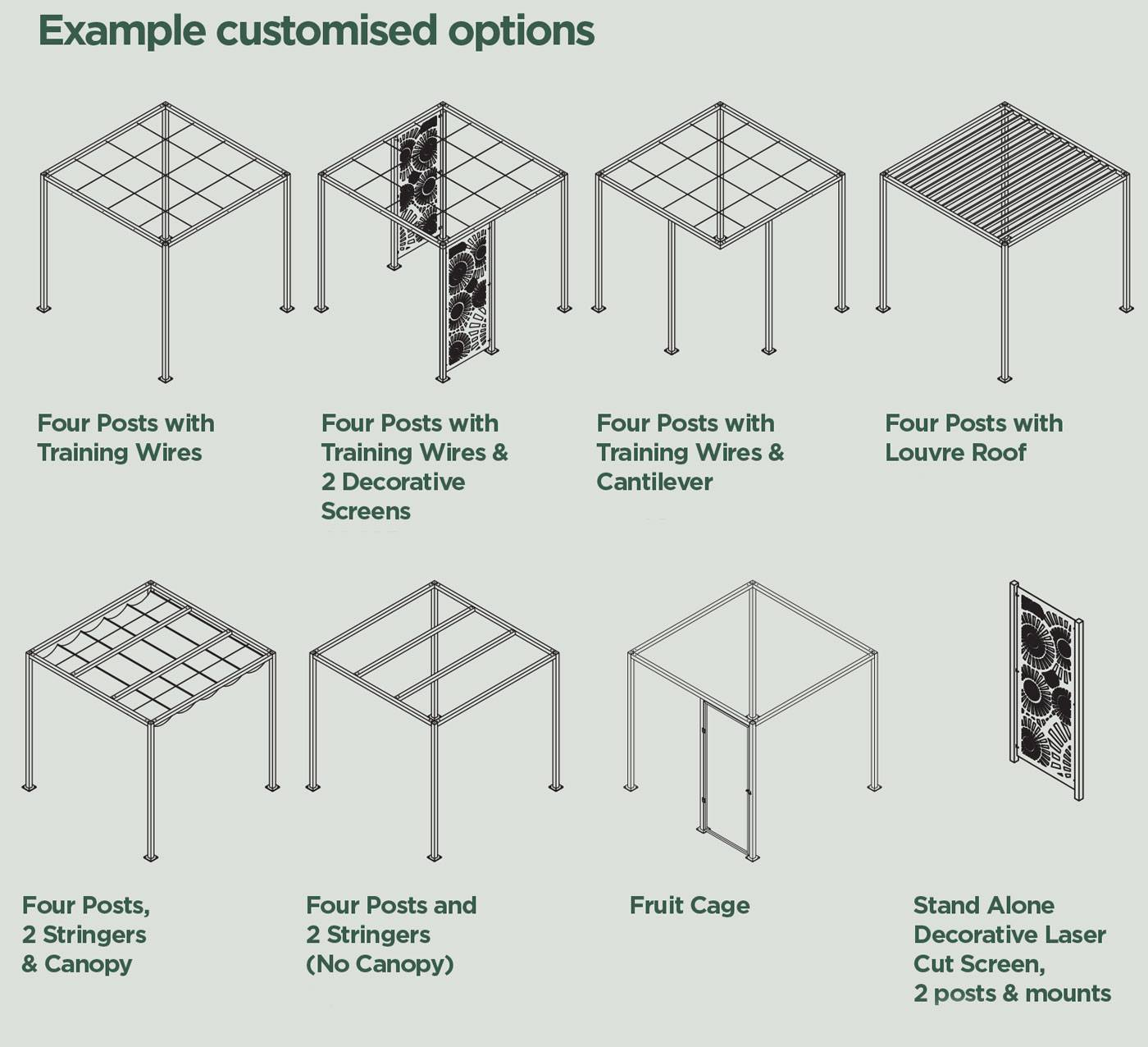 Modern Pergola Custom Options