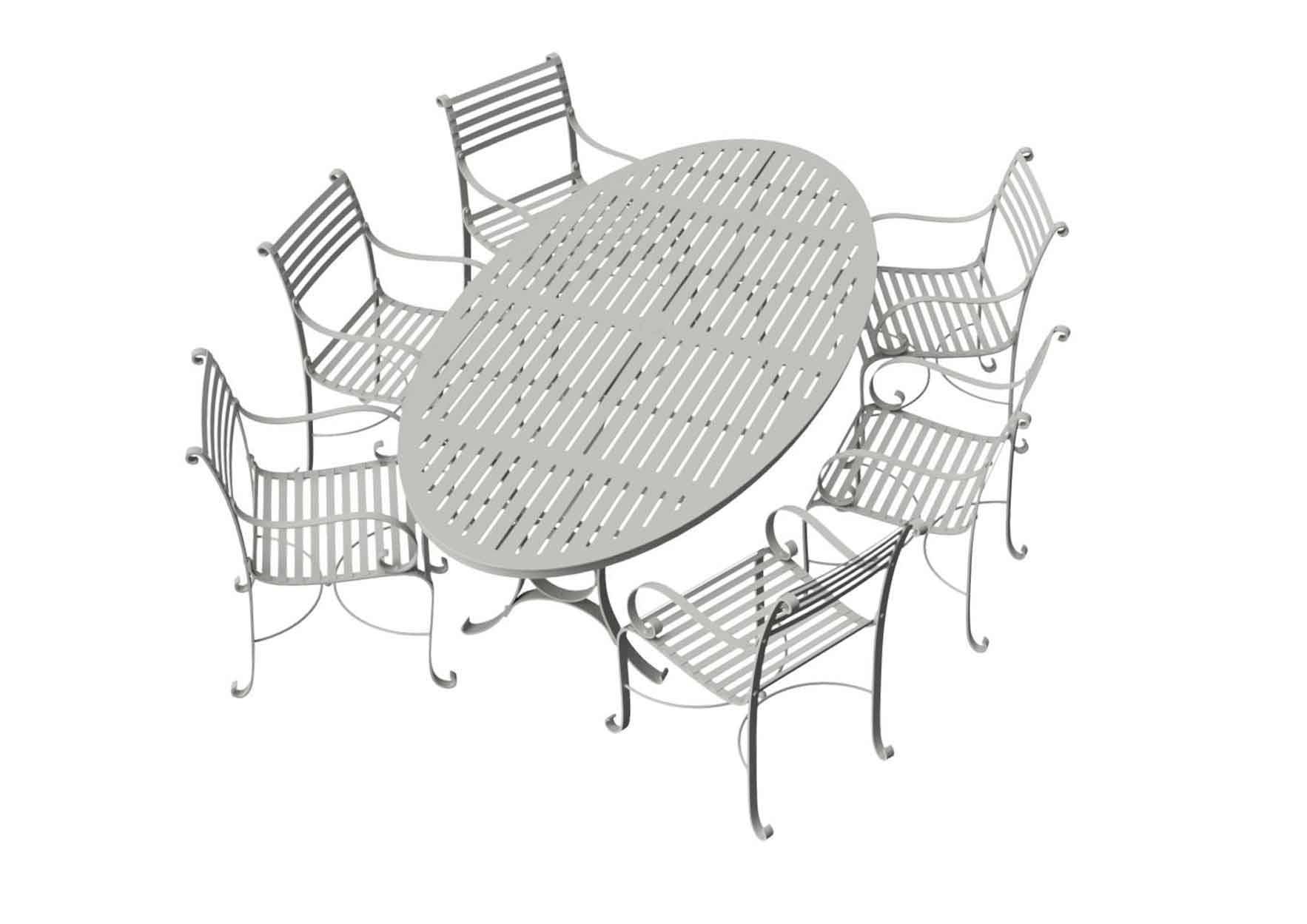 Southwold Oval 2.4m Round Dining Table Sets 1