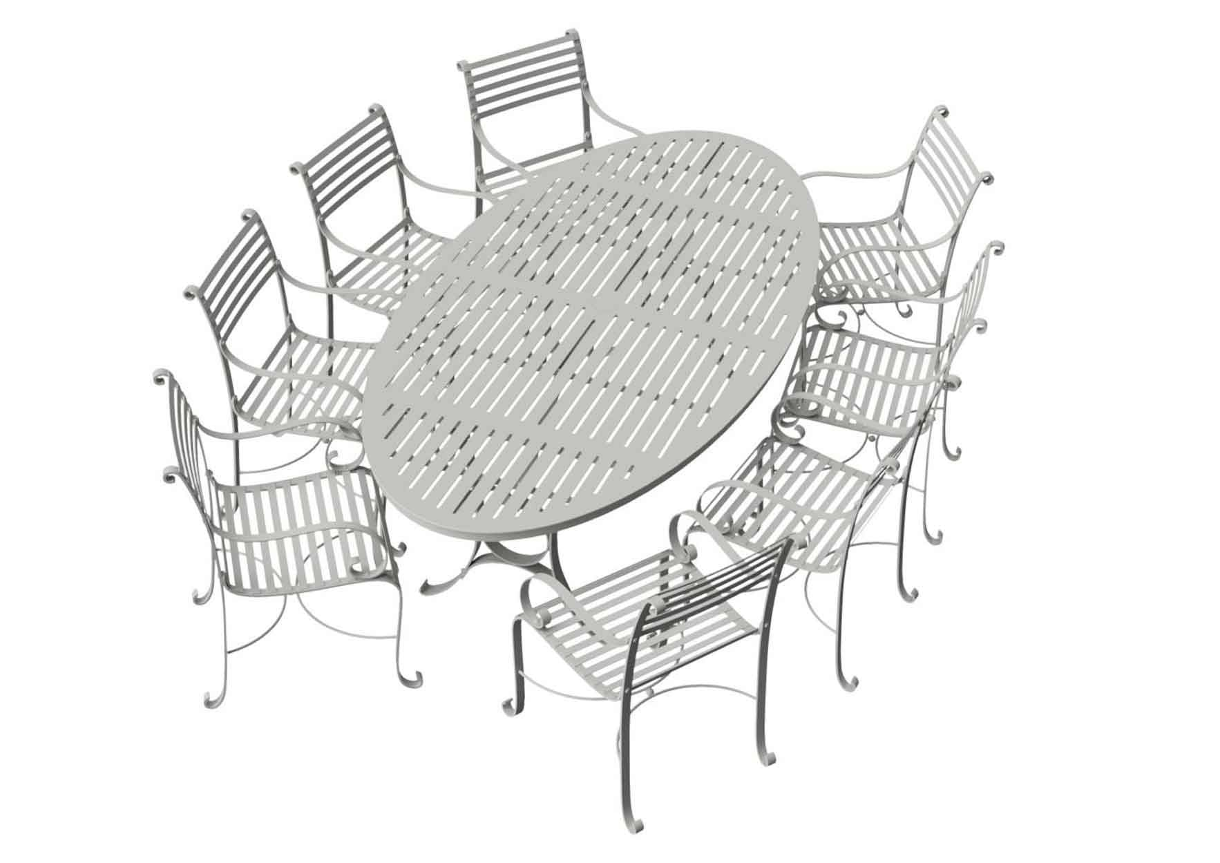 Southwold Oval 2.4m Round Dining Table Sets 2
