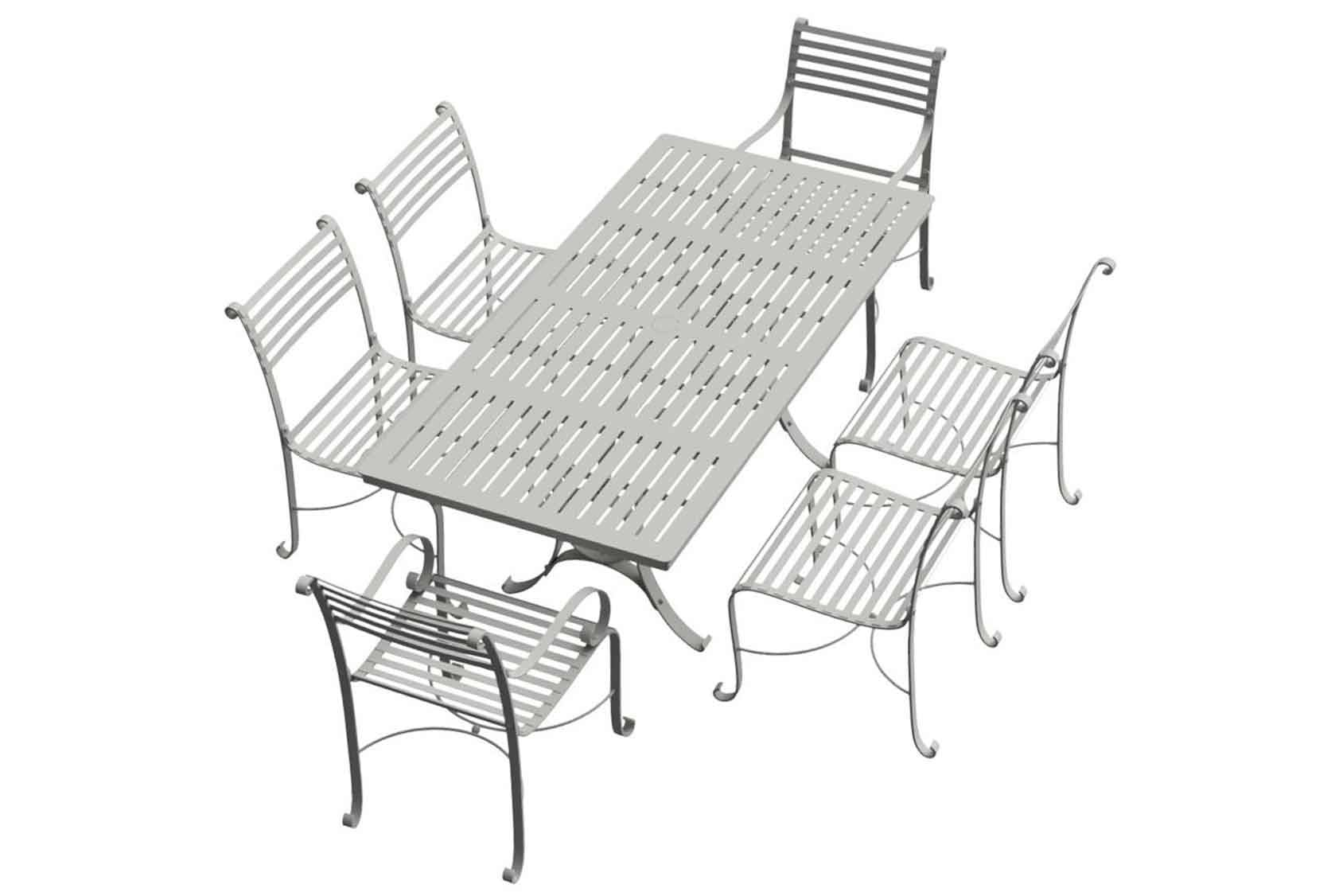 Southwold Rectangle 1.8m Dining Table Sets 4 side chairs 2 carvers