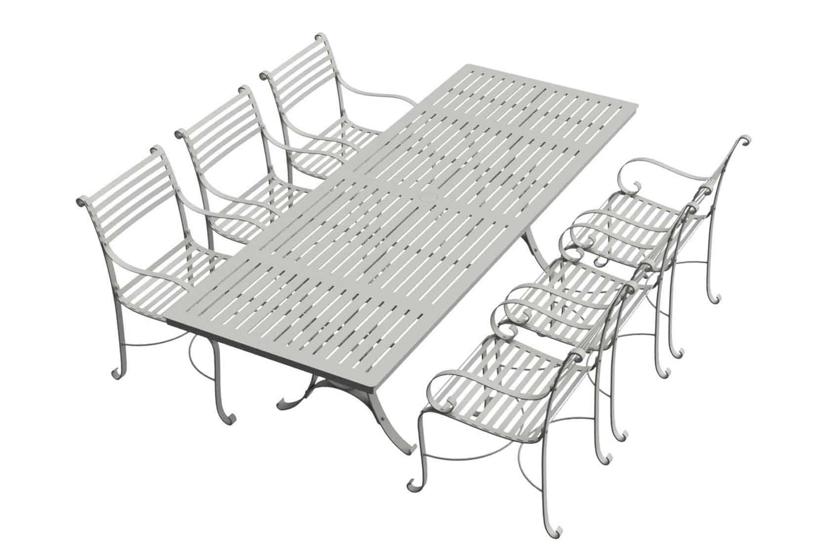 Southwold Rectangle 2.4m Dining Table Sets 6 carvers