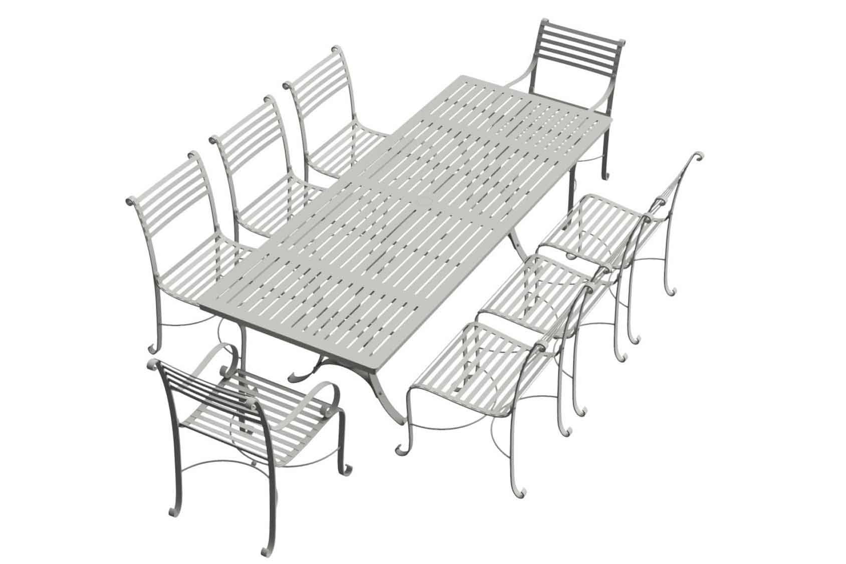Southwold Rectangle 2.4m Dining Table Sets 2 carvers 6 side chairs