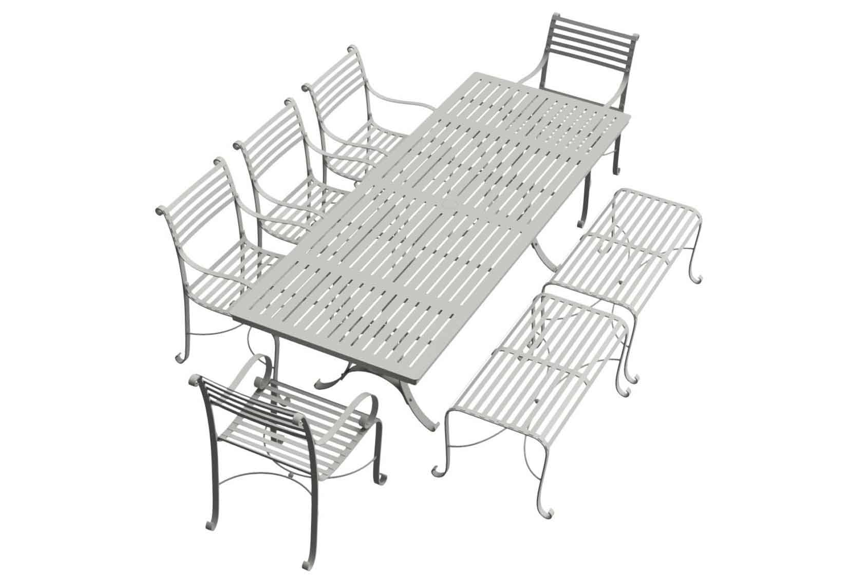 Southwold Rectangle 2.4m Dining Table Sets 2 Benches 5 carvers