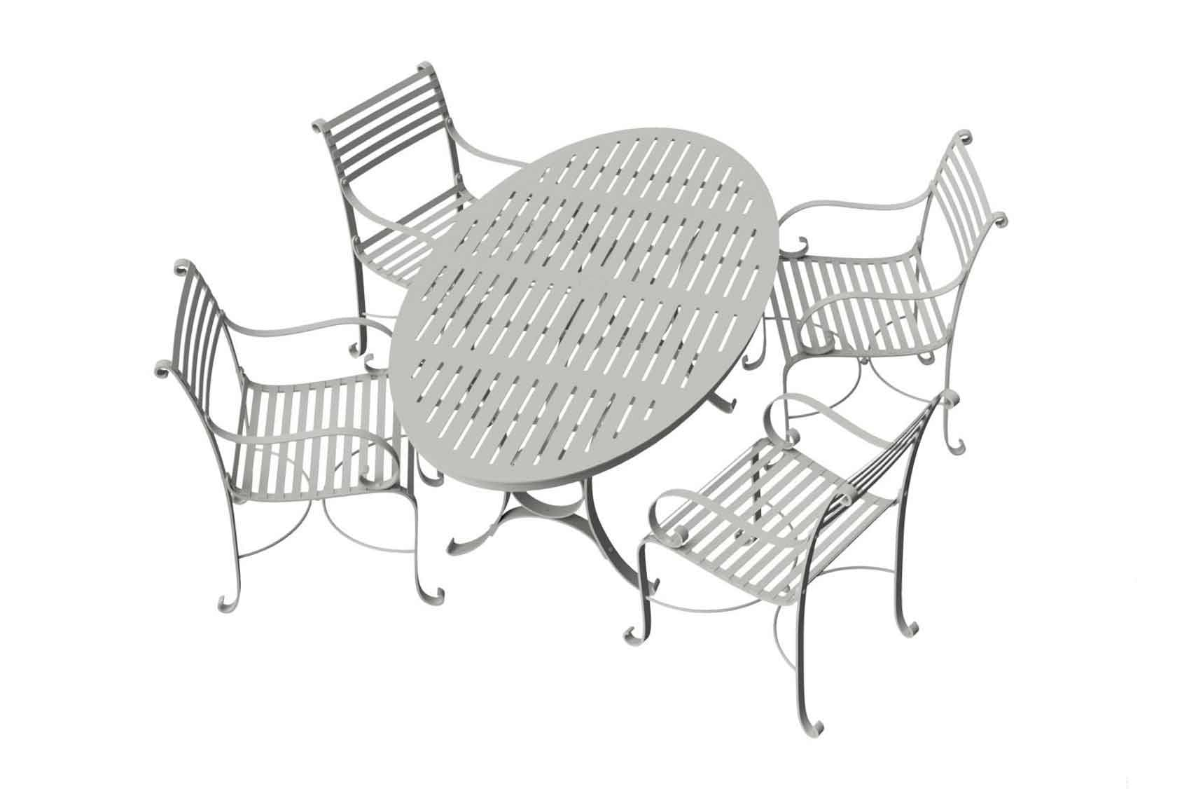 Southwold Oval 1.8m Round Dining Table Sets 1