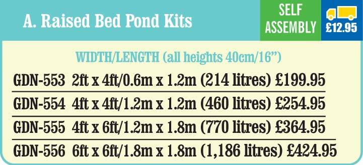 Raised Bed Pond kits