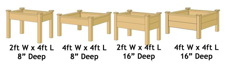 Raised Bed Table Range - Superior