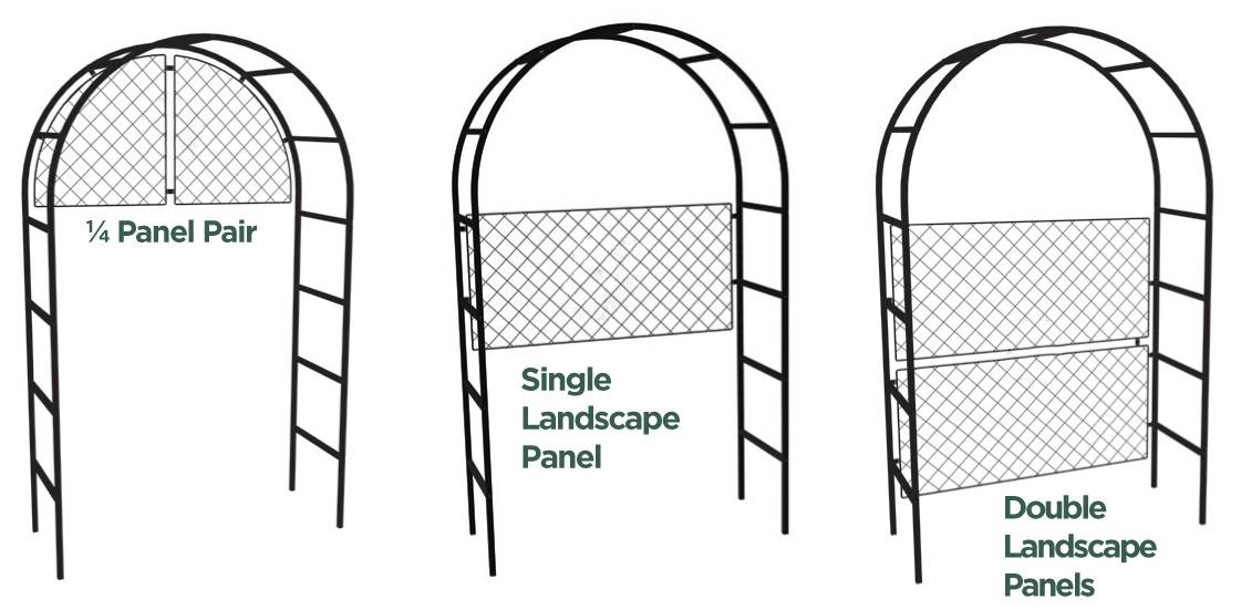 Arch Arbour Customise CAD