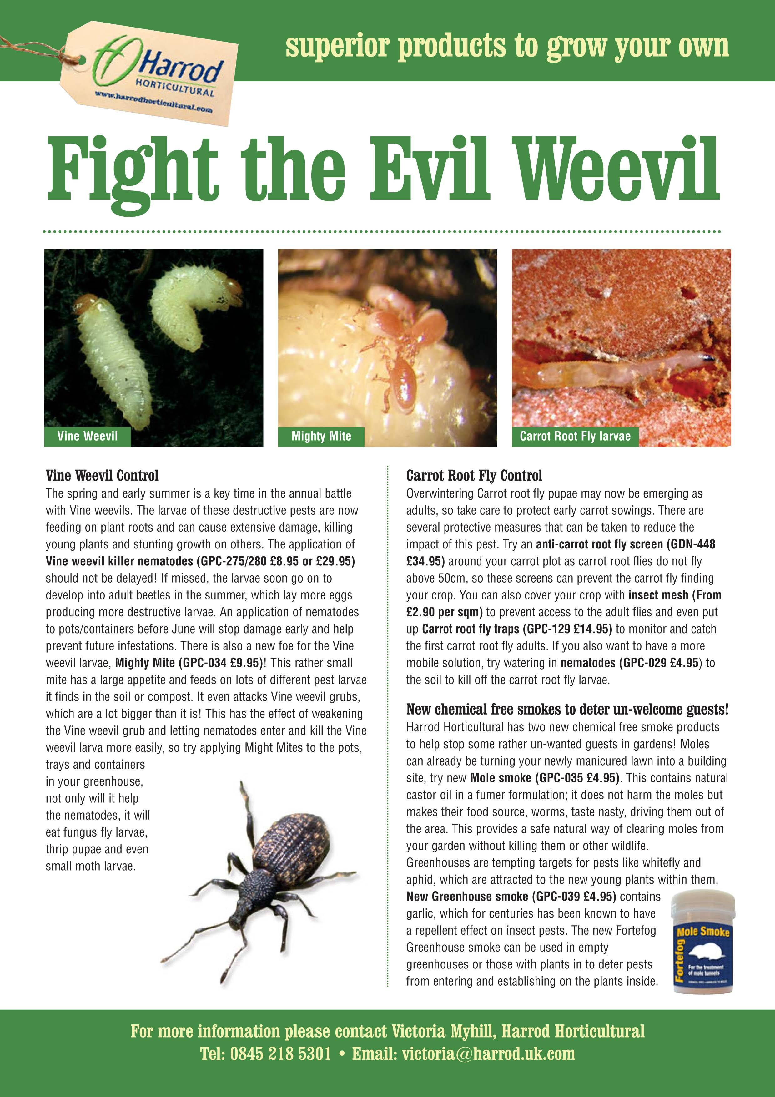 Vine Weevil Press Release